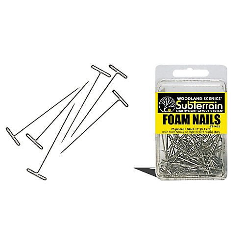 "Woodland Scenics ST1432 Foam Pins Nails 2"" 5cm (75) for Diorama"