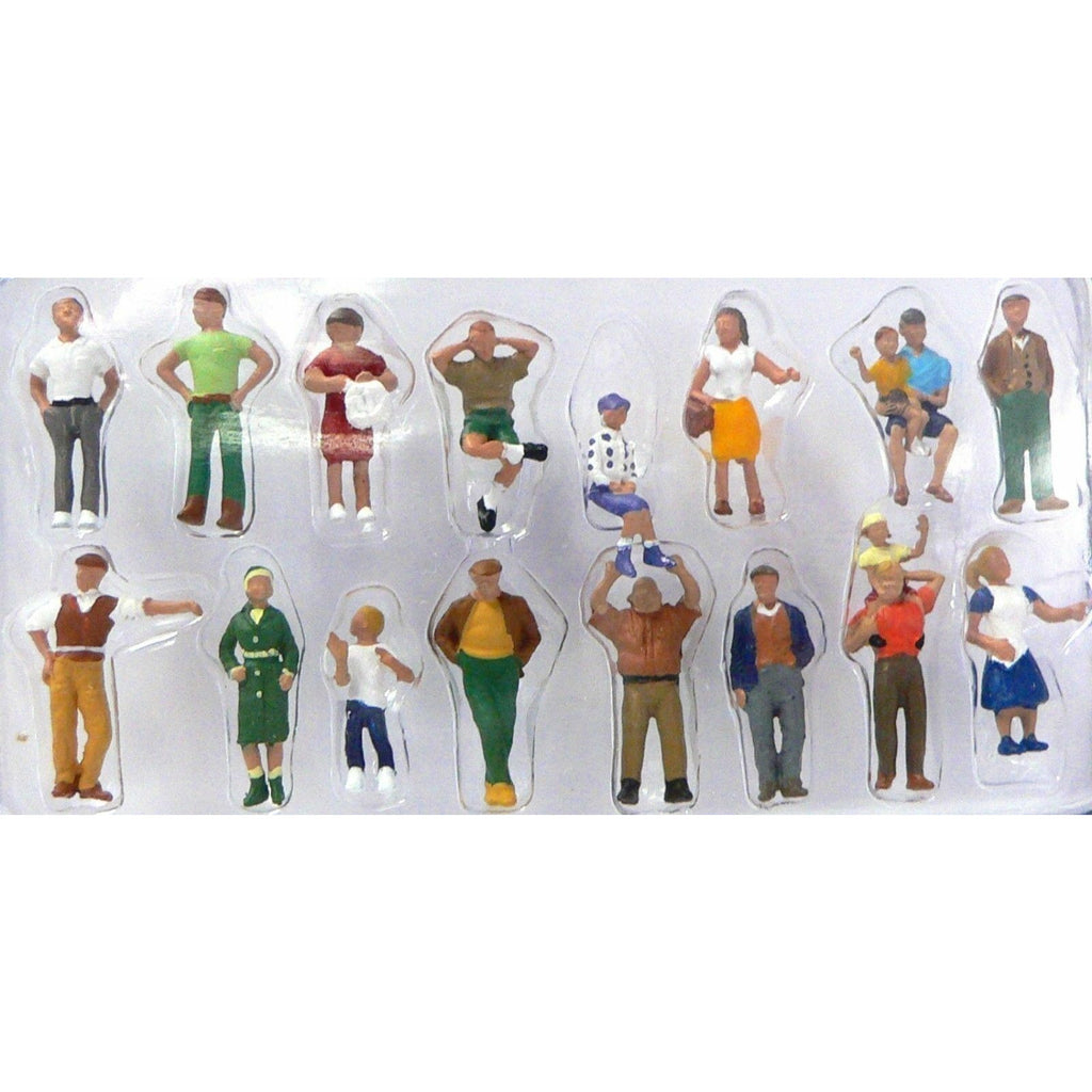 Woodland Scenics A1958 HO Scale People 16 Pieces for Model Diorama