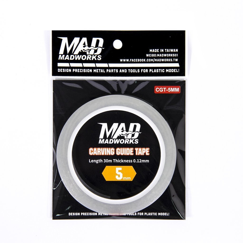 Madworks CGT-5MM Carving Guide Line Scribing Tape 5mm x 30m for Panel Lines