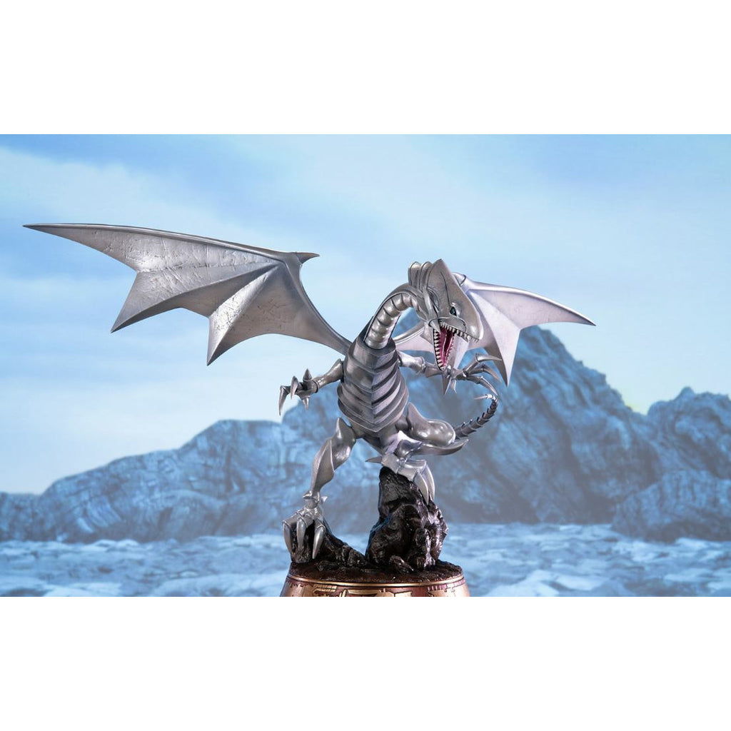 "(PRE-ORDER Expected October 2021) First 4 Figures Yu-Gi-Oh! Blue-Eyes White Dragon (White Variant) 14"" Statue"