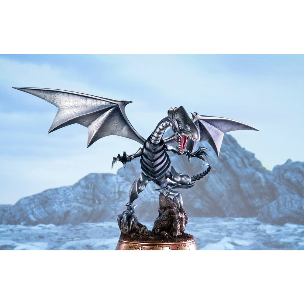 "(PRE-ORDER Expected October 2021) First 4 Figures Yu-Gi-Oh! Blue-Eyes White Dragon (Silver Variant) 14"" Statue"