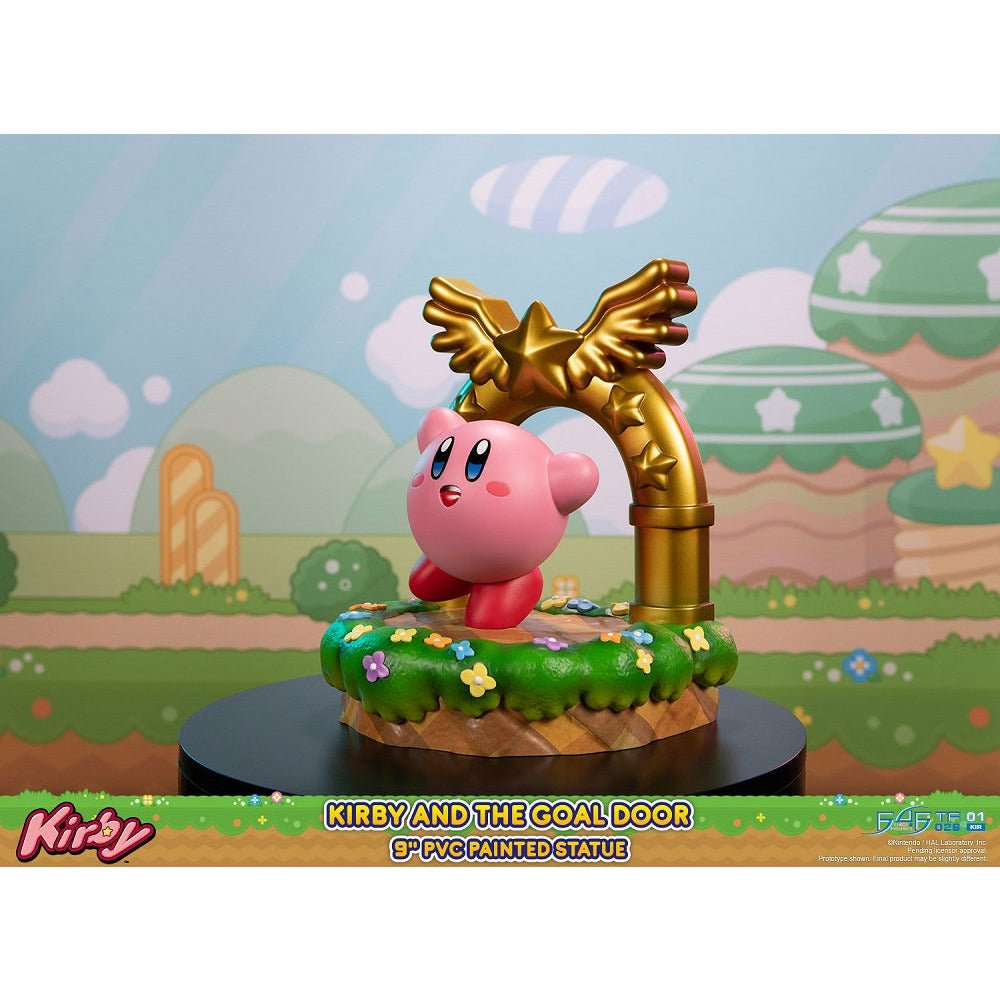 (PRE-ORDER October 2021) First 4 Figures F4F Kirby and the Goal Door Standard Edition PVC Statue