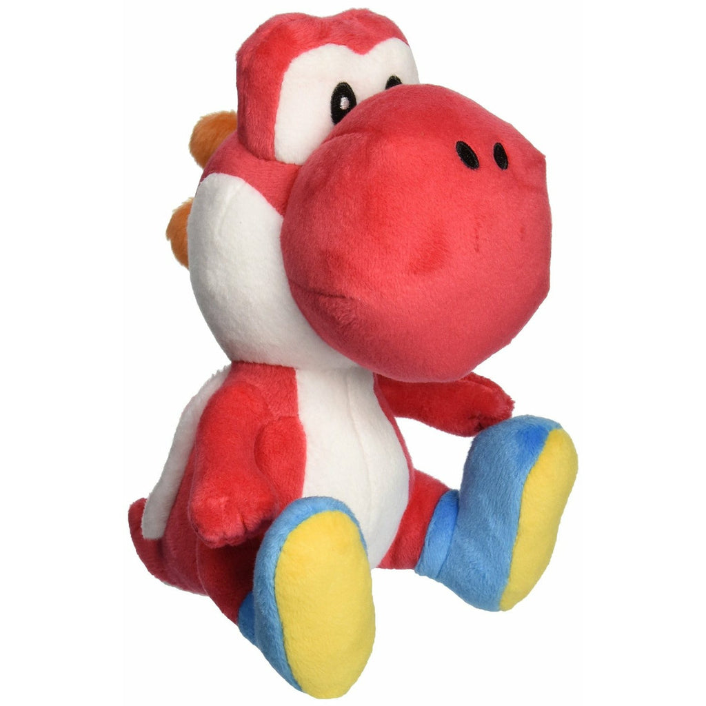 "Little Buddy Toys Super Mario Red Yoshi 6"" Stuffed Plush"