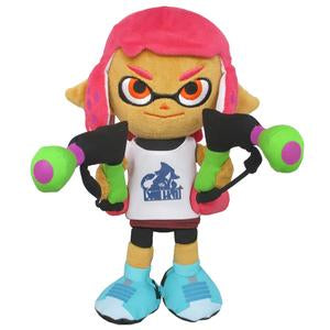 "Little Buddy Splatoon 2 Female Girl Neon Pink Inkling 9"" Stuffed Plush"