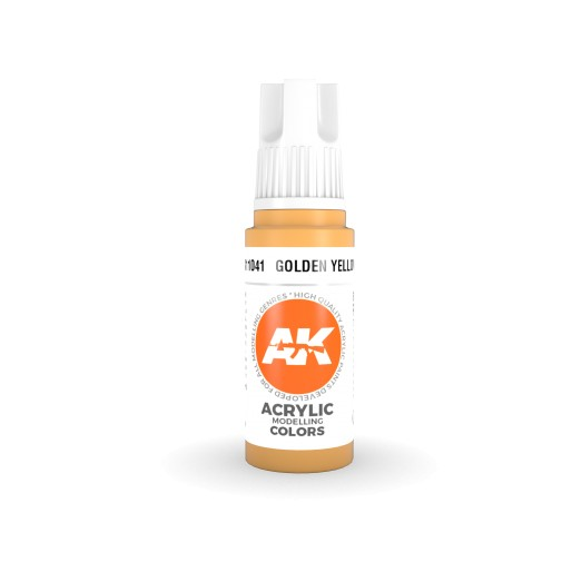 AK Interactive 3rd Gen Acrylic Golden Yellow 17ml