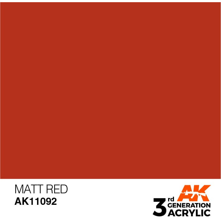 AK Interactive 3rd Gen Acrylic Matt Red 17ml
