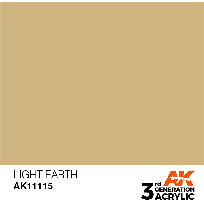 AK Interactive 3rd Gen Acrylic Light Earth 17ml
