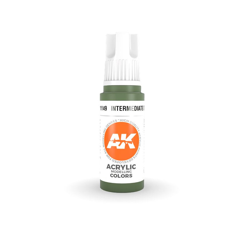 AK Interactive 3rd Gen Acrylic Intermediate Green 17ml