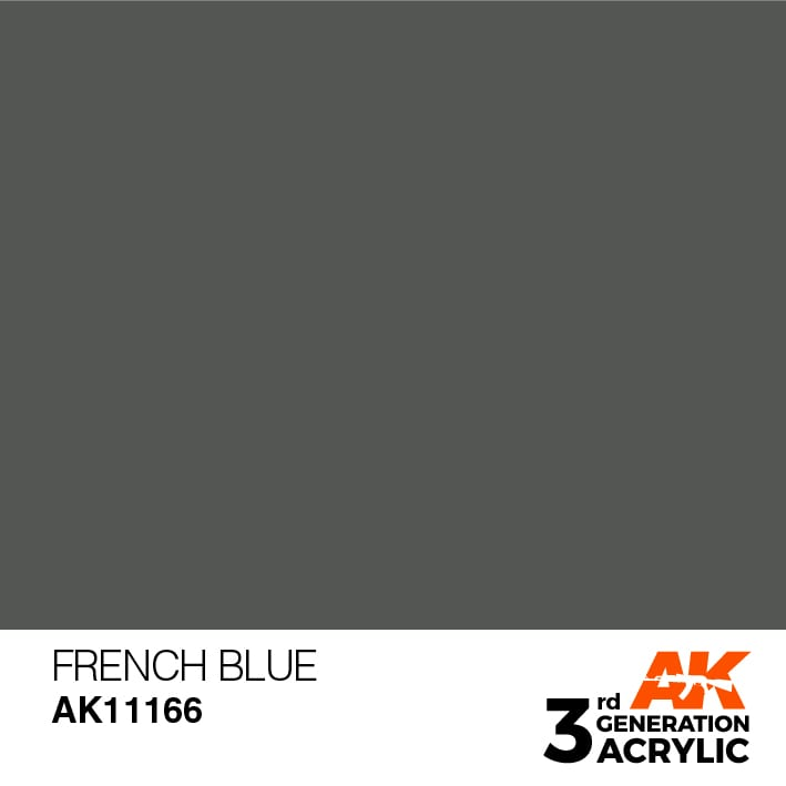 AK Interactive 3rd Gen Acrylic French Blue 17ml