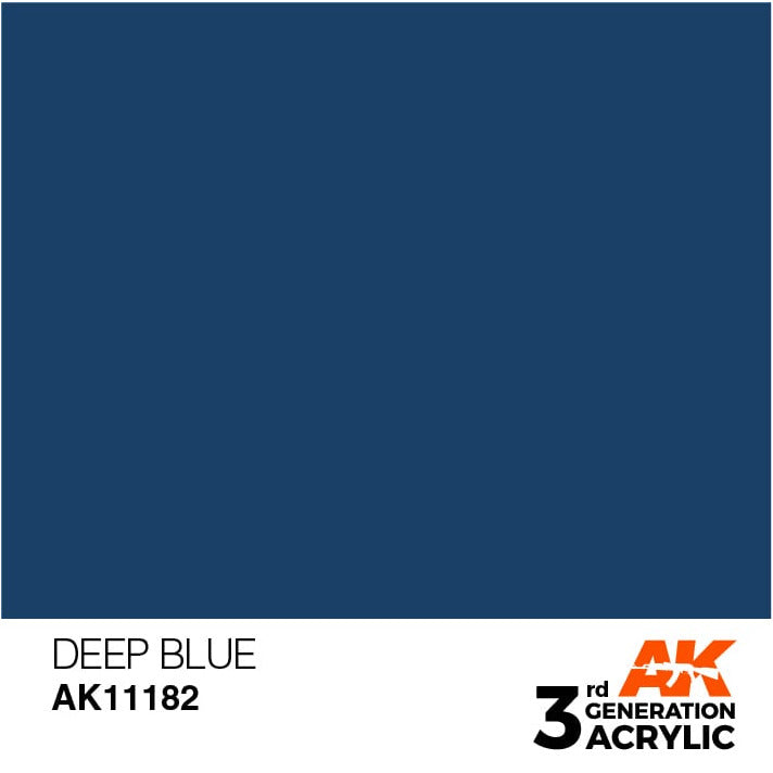AK Interactive 3rd Gen Acrylic Intense Deep Blue 17ml