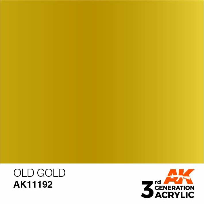 AK Interactive 3rd Gen Metallic Old Gold 17ml