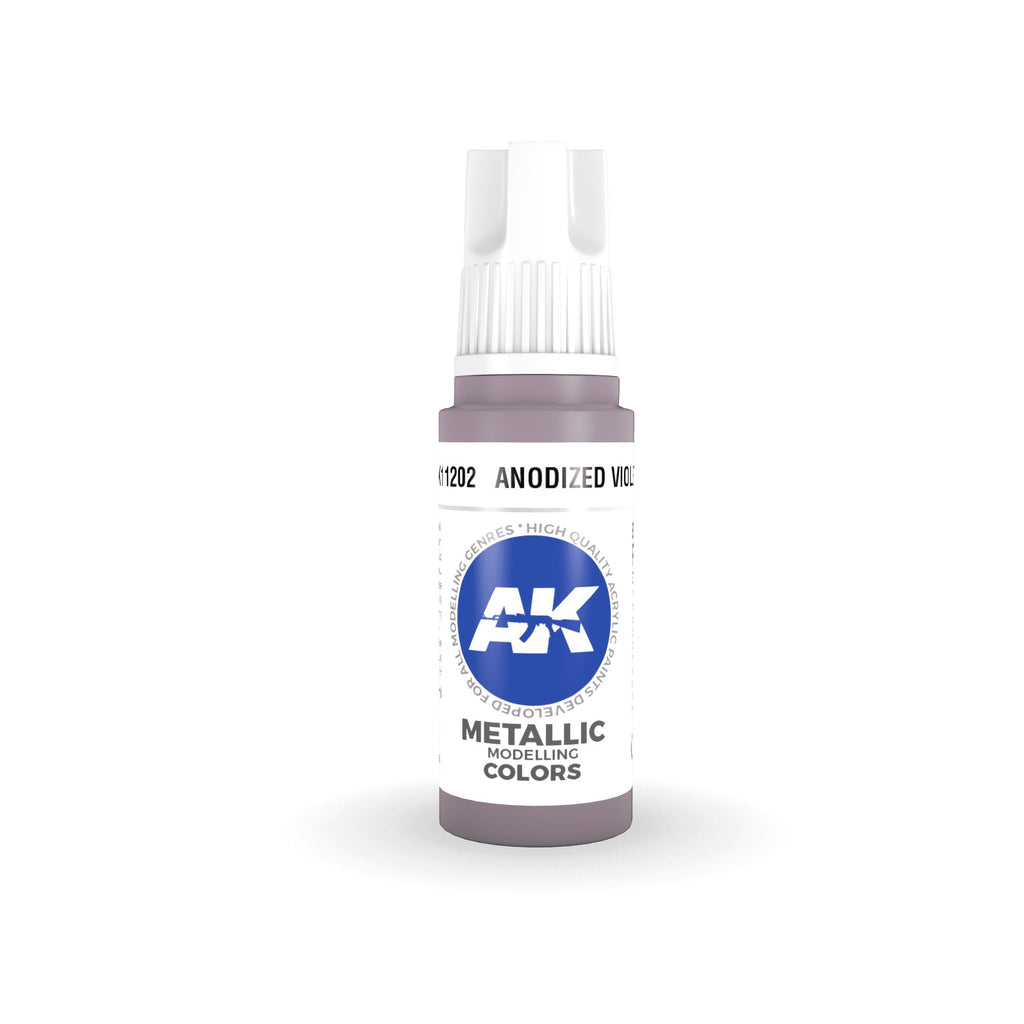 AK Interactive 3rd Gen Acrylic Anodized Violet 17ml