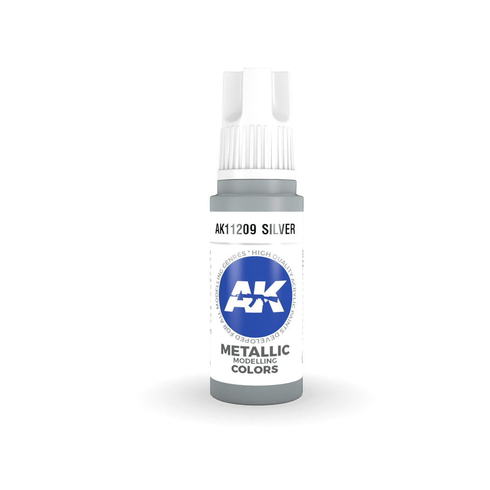 AK Interactive 3rd Gen Metallic Silver 17ml