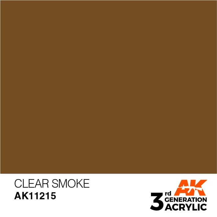 AK Interactive 3rd Gen Acrylic Clear Smoke 17ml