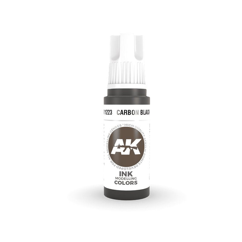AK Interactive 3rd Gen Acrylic Carbon Black INK 17ml