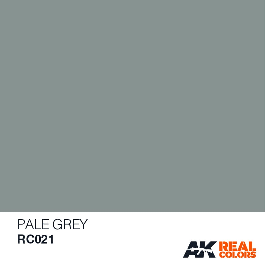 AK Interactive AFV Real Color RC021 Pale Grey 10ml Hobby Paint