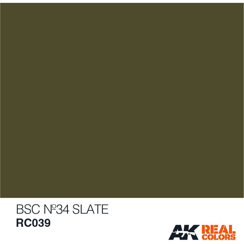 AK Interactive AFV Real Color RC039 Slate BSC34 10ml Hobby Paint