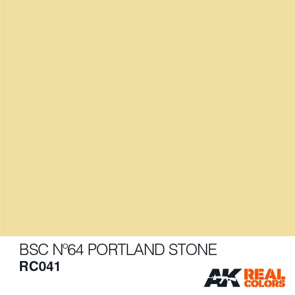 AK Interactive AFV Real Color RC041 Portland Stone 10ml Hobby Paint