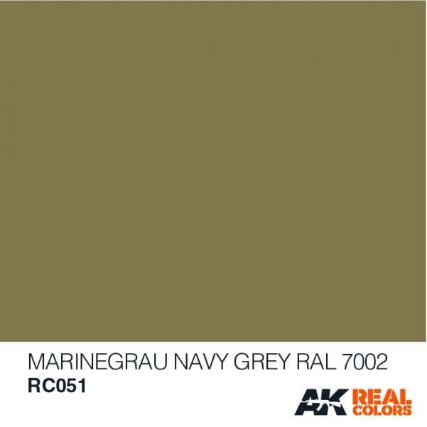 AK Interactive AFV Real Color RC051 Navy Grey RAL7002 10ml Hobby Paint