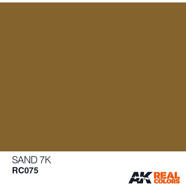 AK Interactive AFV Real Color RC075 Sand 7K 10ml Hobby Paint