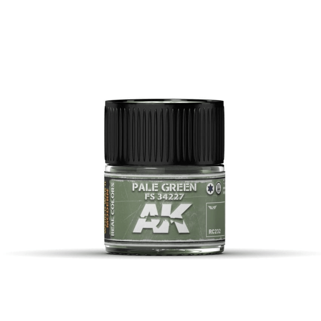 AK Interactive Real Color Pale Green 10ML Acrylic Hobby Paint Bottle
