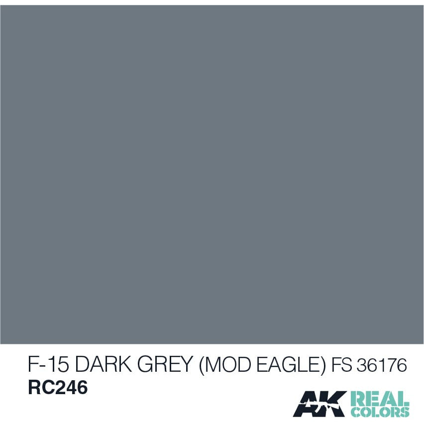 AK Interactive Real Color F-15 Dark Grey 10ML Acrylic Hobby Paint Bottle