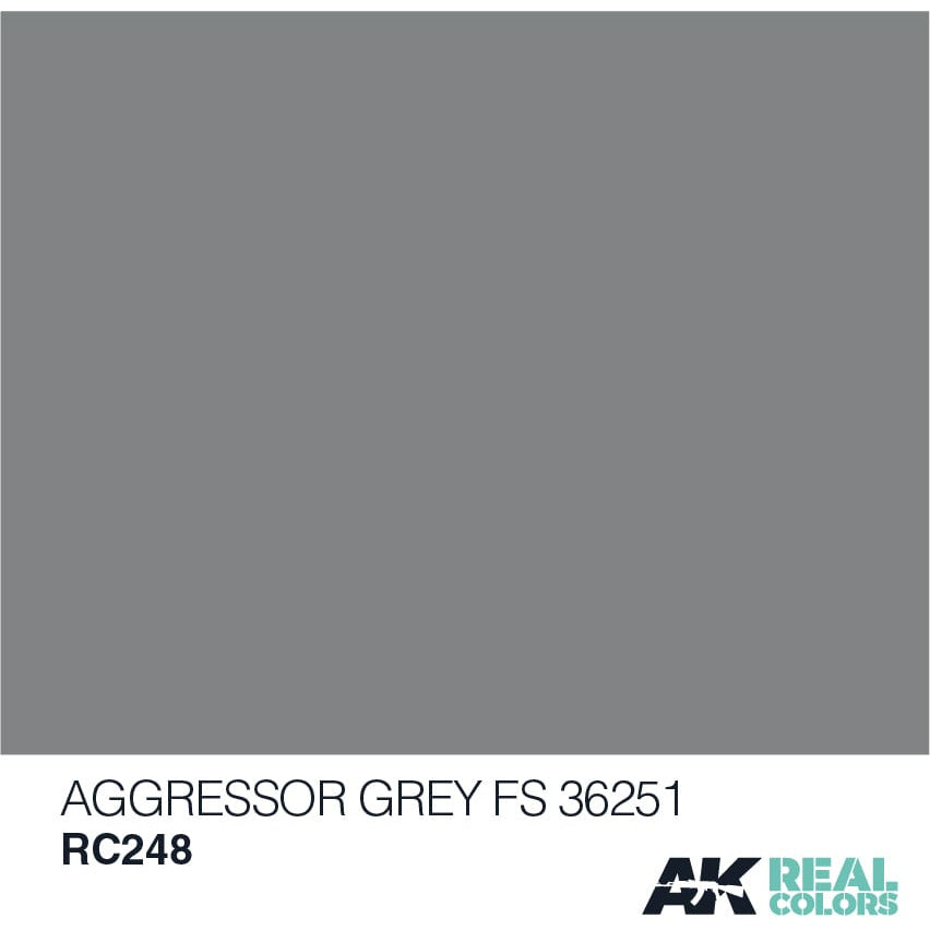 AK Interactive Real Color Aggressor Grey 10ML Acrylic Hobby Paint Bottle