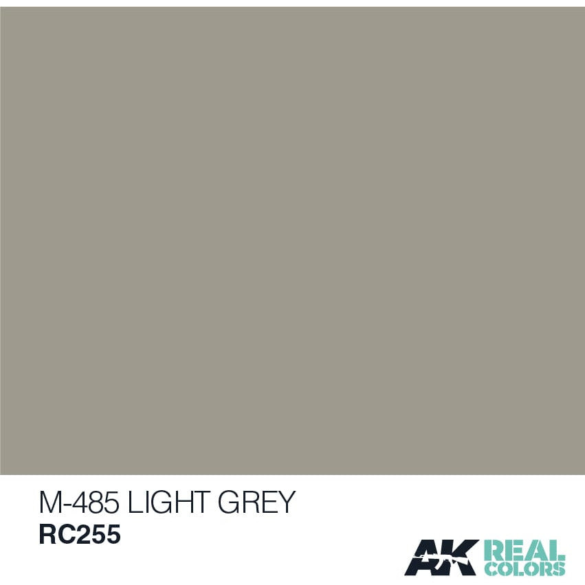 AK Interactive Real Color M-485 Light Grey 10ML Acrylic Hobby Paint Bottle