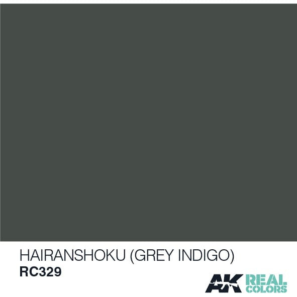AK Interactive Real Color Hairanshoku Grey Indigo 10ML Acrylic Hobby Paint Bottle