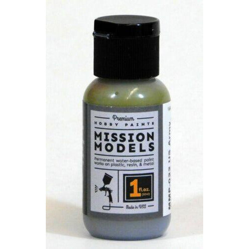 Mission Models MMP-022 US Army Olive Drab Faded 3 Acrylic Paint 1 oz (30ml)