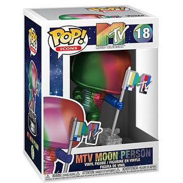PRE-ORDER Funko Pop! AD Icons: MTV- Moon Person (Rainbow/Metallic) w/ Pop Protector (Q2 Release)