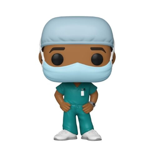 PRE-ORDER: Funko Pop! Heroes: Front Line Workers - Male #2 w/ Pop Protector (October)