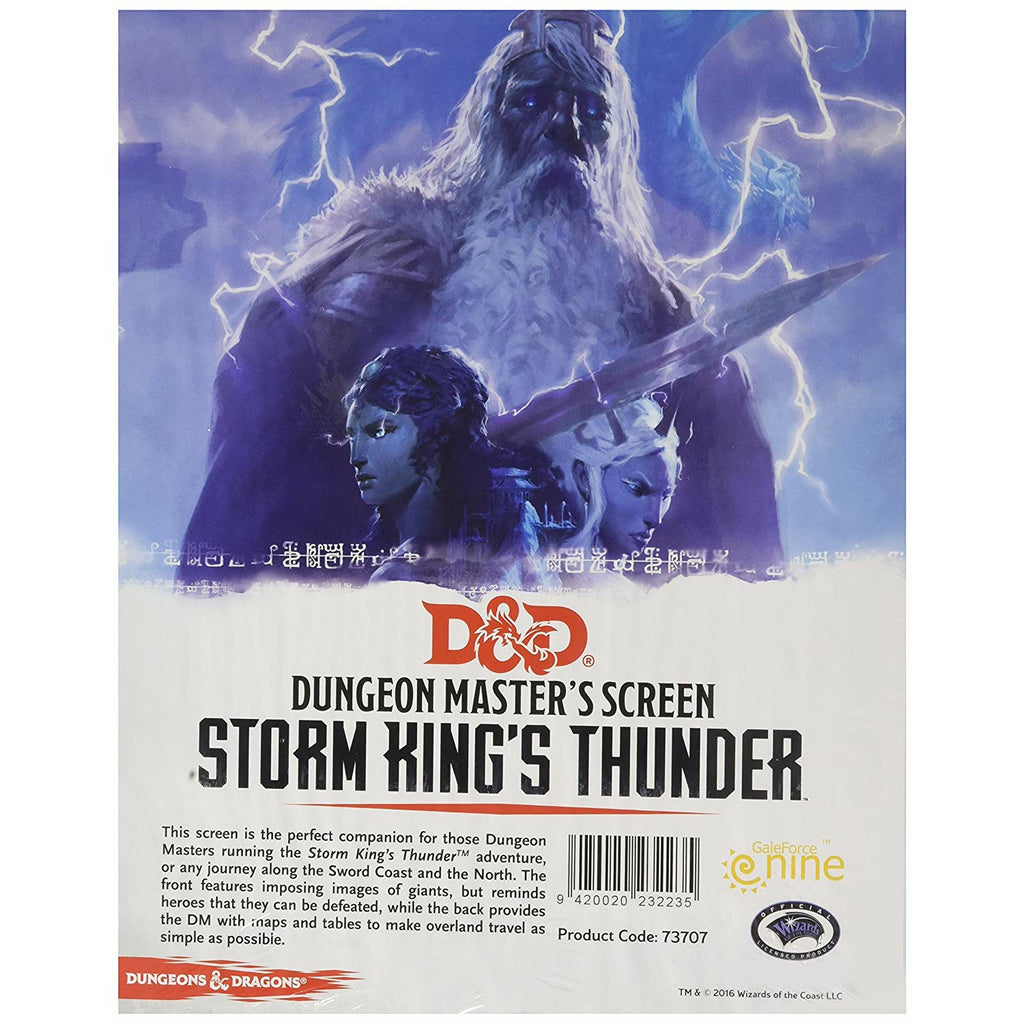 D&D Dungeon Master's Screen (Storm King's Thunder)