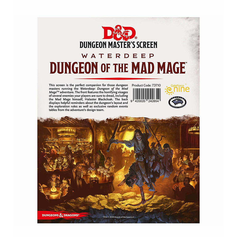 D&D Dungeon Master's Screen Waterdeep: Dungeon of the Mad Mage