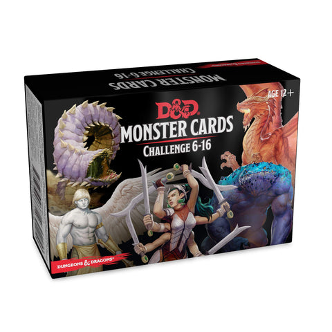 Dungeons & Dragons D&D Spellbook Cards Monster Challenge Rating 6-16