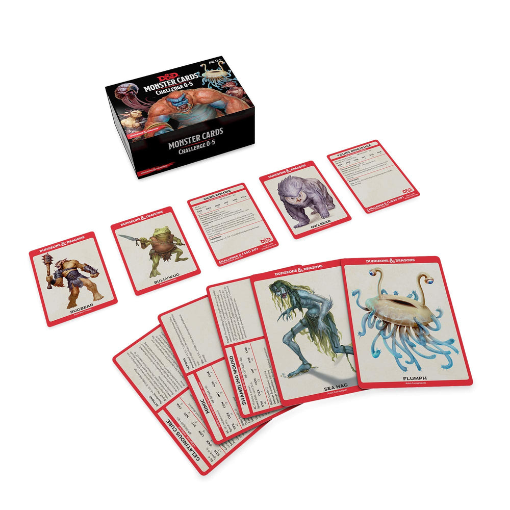 Dungeons and Dragons RPG: Monster Cards - Challenge 0-5 Deck (268 cards)