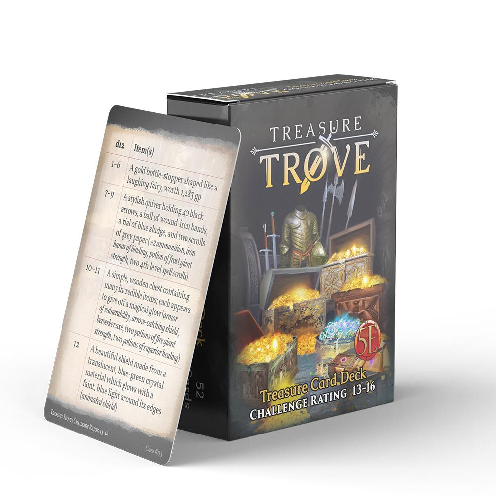 Nord Games: Game Master's Toolbox - Treasure Trove Deck - Challenge Rating 13-16