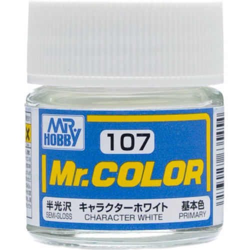 GSI Creos MR. Hobby Mr Color C107 Character White 10mL Primary Semi-Gloss Paint