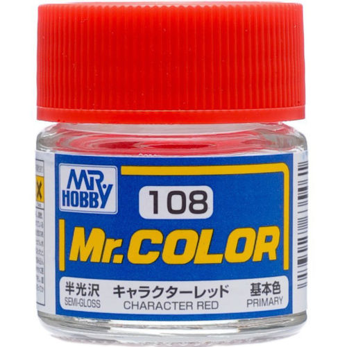 GSI Creos MR. Hobby Mr Color C108 Character Red 10mL Primary Semi-Gloss Paint