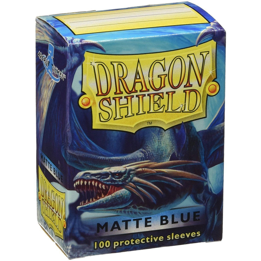 Dragon Shield Matte Blue 100 Protective Sleeves