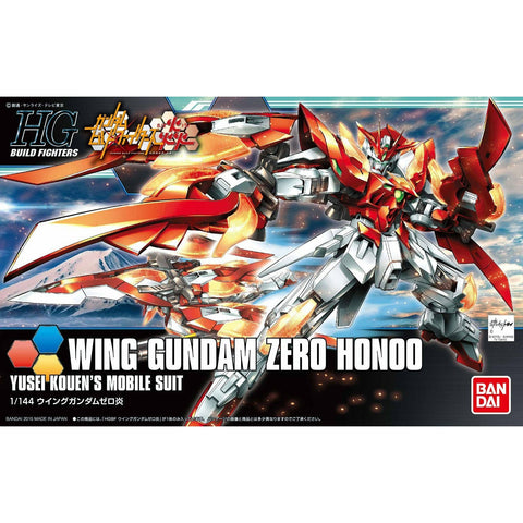 "Bandai Hobby HGBF Wing Gundam Zero Flame (Honoo) ""Gundam Build Fighters"" Model Kit, 1/144 Scale - Galactic Toys & Collectibles - 1"
