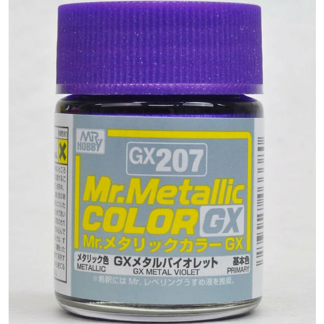 GSI Creos Mr. Hobby Mr Metallic Color GX207 GX Metal Violet 18mL Primary Paint