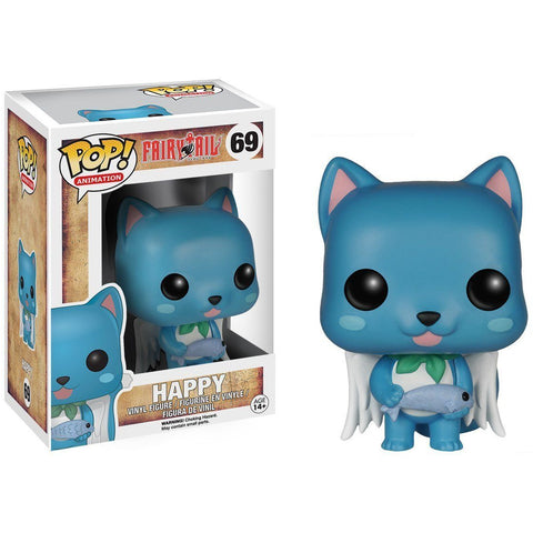 Funko Pop Animation: Fairy Tail - Happy Vinyl Figure - Galactic Toys & Collectibles