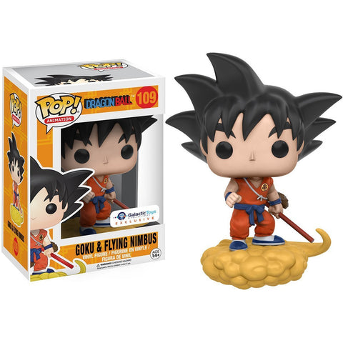 Funko Pop Dragon Ball - Goku and Flying Nimbus Orange Suit Galactic Toys Exclusive