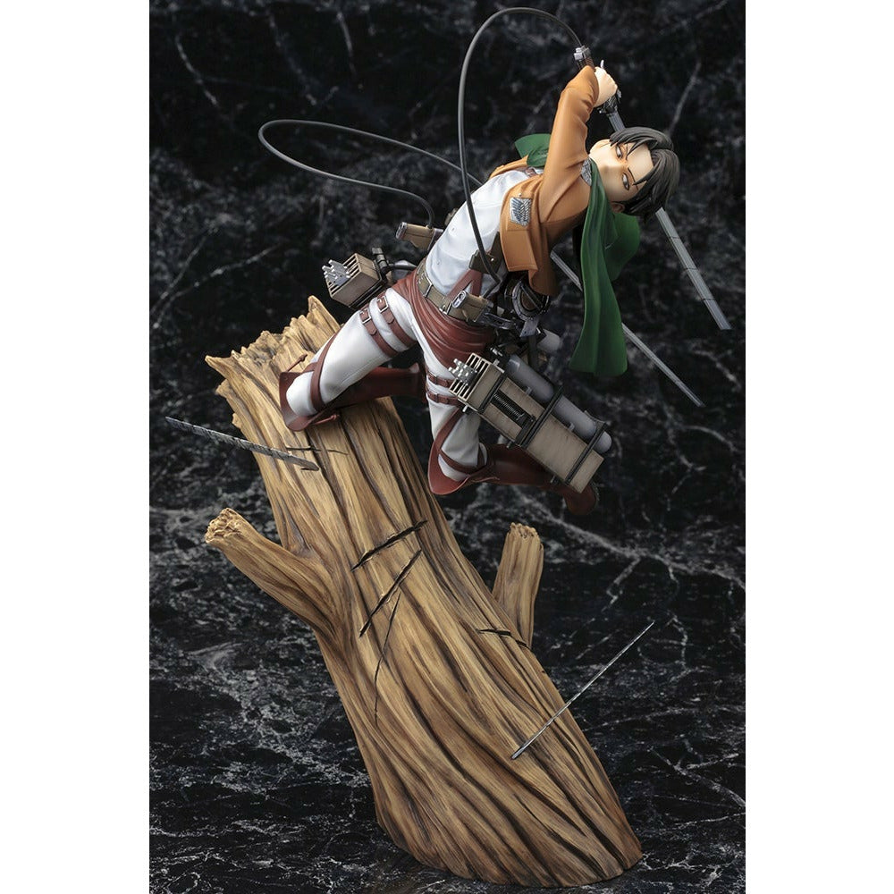 (PRE-ORDER Expected November 2021) Kotobukiya ARTFX J Attack on Titan Levi Renewal Package Ver. Figure Statue