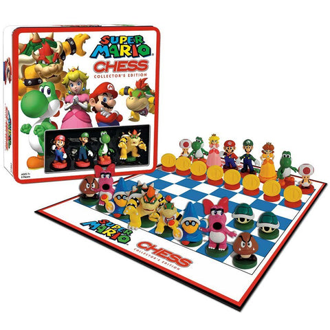 Nintendo Super Mario Bros. Chess Collector's Edition Game Tin