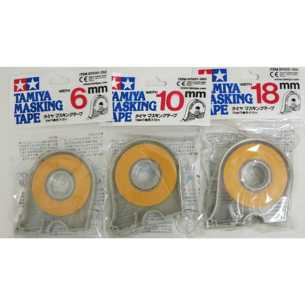 Tamiya 87030 87031 87032 Masking Tape Bundle 6mm - 10mm - 18mm with Dispensers