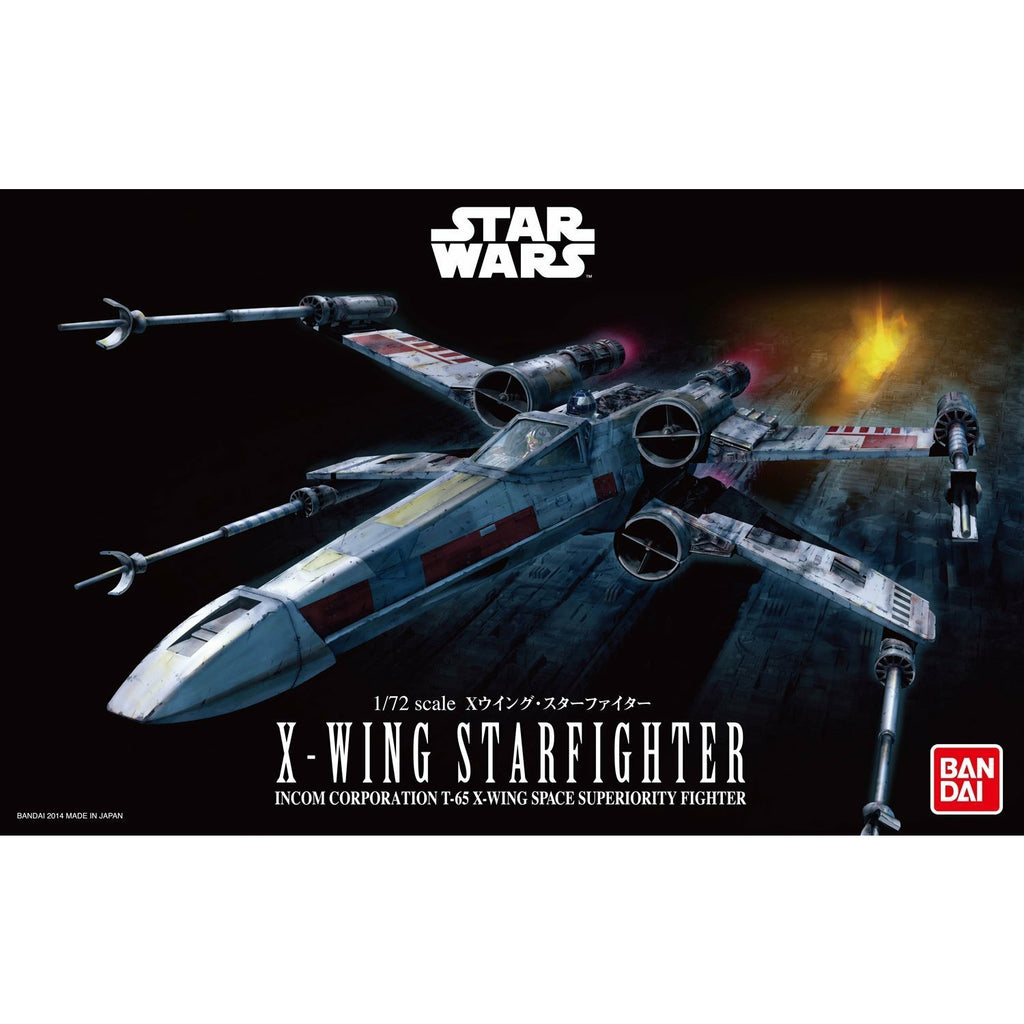 Bandai Hobby Star Wars X-Wing Starfighter 1/72 Scale Model Kit