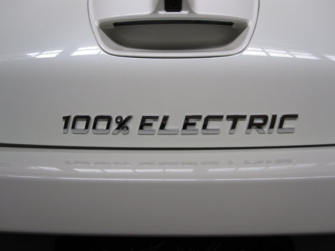 100% ELECTRIC Easy to apply Car Emblem