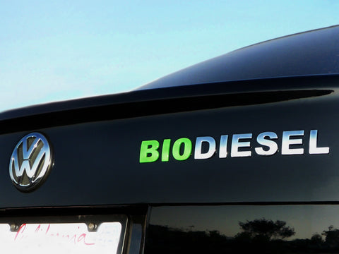 BIODIESEL EASY TO APPLY GREEN and CHROME Emblem